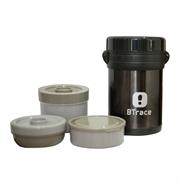 BTrace Термос пищевой (три контейнера + ложка,вилка) 905-1500
