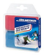 Holmenkol Набор парафинов WC Mix Cold red+blue 2x35г
